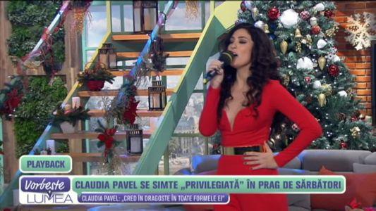 """Claudia Pavel se simte """"Privilegiata"""" in prag de sarbatori"""