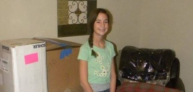 O fetita de 12 ani si-a petrecut vacanta de iarna batand la usile caselor din cartierul sau. Gestul sau, impresionant