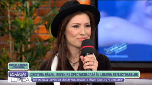 Cristina Balan, revenire spectaculoasa in lumina reflectoarelor