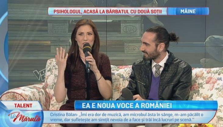 Imi era dor de muzica, am microbul asta in sange . Ce a povestit Cristina Balan din culisele show-ului Vocea Romaniei