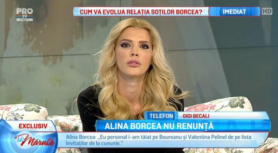 Eu nu am sot de lasat. Eu sunt Alina Borcea . Ce a declarat in platou La Maruta