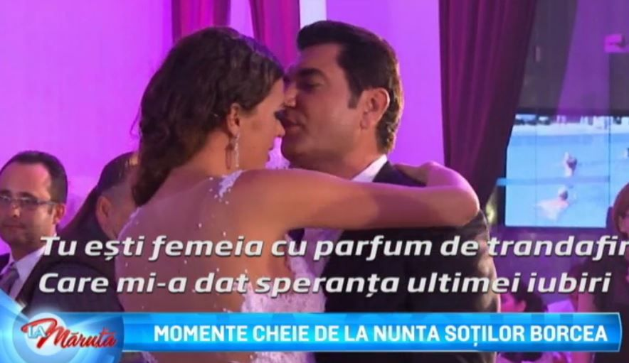 Momente cheie de la nunta Alinei Borcea si a lui Cristi Borcea. Vezi imaginile