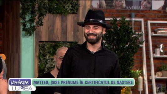 Matteo, sase prenume in certificatul de nastere