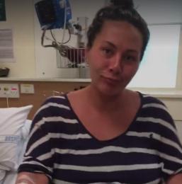 Aceasta femeie a fost filmata in timp ce se afla in spital si astepta sa nasca. Intr-o secunda totul s-a schimbat
