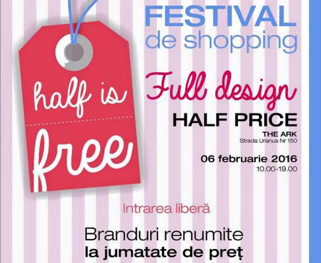 Half is Free , sambata, 6 februarie, la The Ark. Reduceri de 50% la tinutele unor branduri renumite