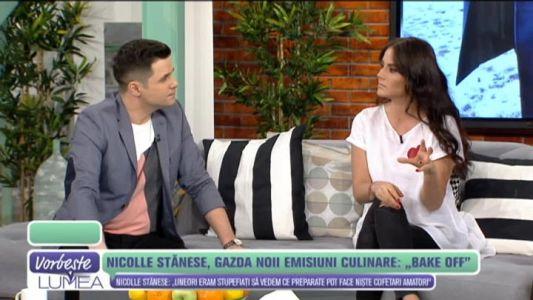 "Nicolle Stanese, gazda noii emisiuni culinare ""Bake Off Romania"""