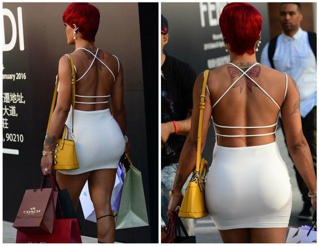 Nimeni nu a putut sa o ignore! Toti au crezut ca e Rihanna, insa au avut o surpriza de proportii cand s-a intors