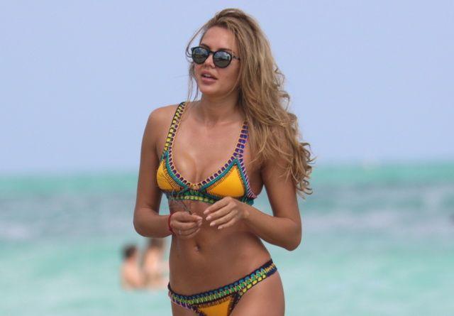 Costumul ei de baie a atras toate privirile. Tetyana Veryovkina, irezistibila pe plajele din Miami