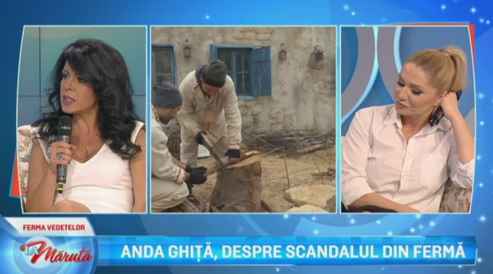 """Anda Ghita, despre certurile de la """"Ferma Vedetelor"""". Ce a marturisit in platoul emisiunii """"La Maruta"""""""