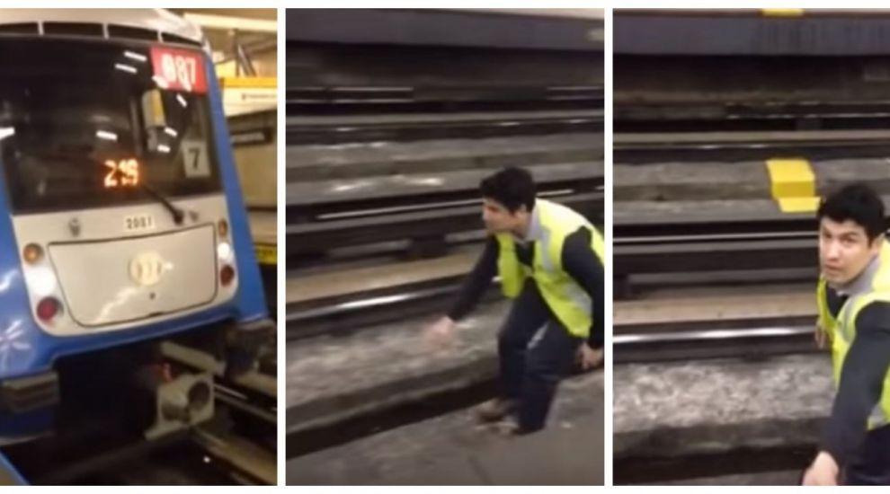 Conductorul de metrou a oprit trenul brusc. Gestul pe care l-a facut apoi l-a transformat intr-un erou