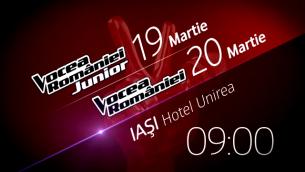 Preselectiile Vocea Romaniei Junior si Vocea Romaniei au loc weekend-ul acesta la Iasi!