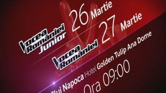 Preselectiile Vocea Romaniei si Vocea Romaniei Junior ajung la Cluj Napoca!