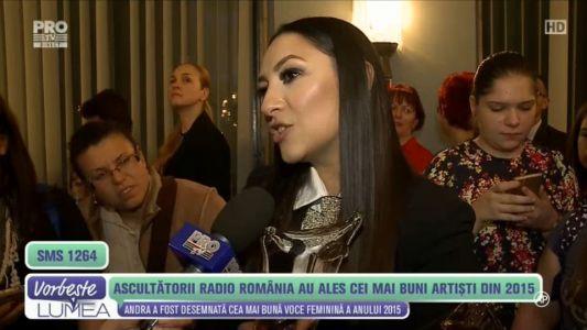 Andra a fost desemnata cea mai buna voce feminina din 2015
