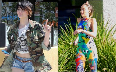 Fiica lui Michael Jackson, usor de confundat cu Miley Cyrus. Cum s-a imbracat Paris pentru o plimbare in aer liber