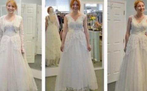 Toate trei arata ca niste rochii de mireasa normale, dar ascund un secret greu de banuit. Imaginile au luat cu asalt internetul