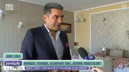 Marcel Toader, dupa eliminarea de la Ferma Vedetelor