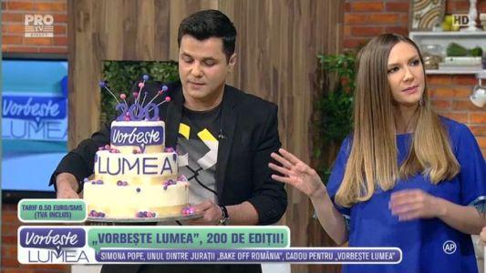 Simona Pope a creat un tort special pentru aniversarea de la Vorbeste lumea