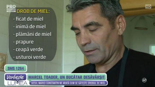 Marcel Toader, un bucatar desavarsit