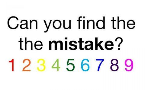 Ai doar 5 secunde la dispozitie sa descoperi eroarea ascunsa in aceasta imagine. Testul care face ACUM senzatie pe internet