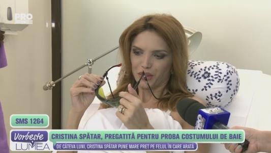 Cristina Spatar, pregatita pentru proba costumului de baie