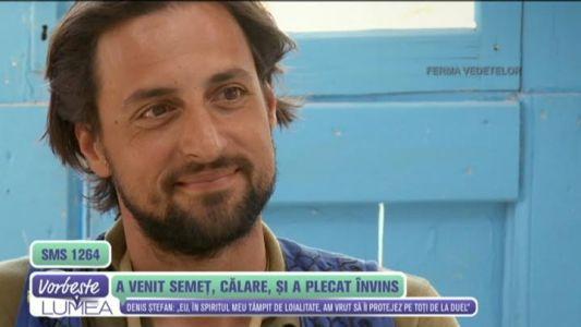 "Denis Stefan, primele impresii dupa eliminarea de la ""Ferma Vedetelor"""