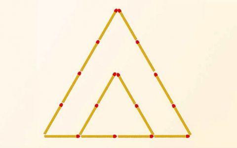 Testul pe care putini l-au trecut. Muta doar doua bete de chibrit pentru a forma trei triunghiuri. Tie ti-a iesit?