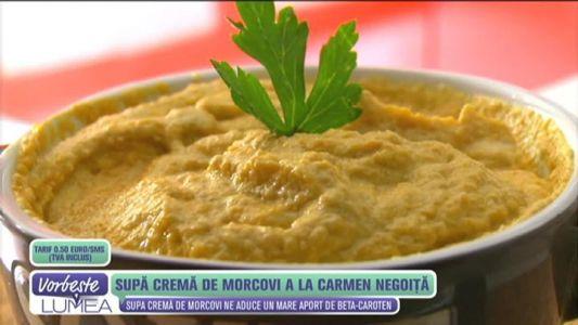 Supa crema de morcovi a la Carmen Negoita