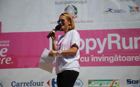 Andreea Esca este gazda evenimentului Happy Run - Race for the Cure, pentru al doilea an consecutiv
