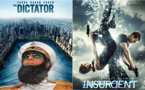 Cele mai bune filme se vad la Pro TV! Dictatorul - Sambata, de la 20:00 si Insurgent - Duminica, de la 20:30