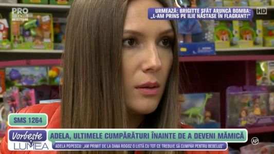 Adela Popescu, ultimele cumparaturi inainte de a deveni mamica