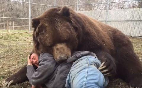 Un barbat a gasit un pui de urs ramas orfan. 22 de ani mai tarziu imaginile cu ei fac senzatie pe internet