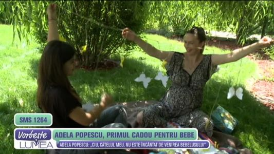Adela Popescu, primul cadou pentru bebe