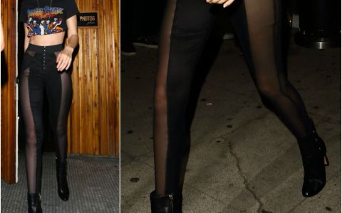 Cea mai noua fita in materie de colanti: sunt transparenti si iti fac picioarele sa para mai suple si mai lungi! Cel putin pe Gigi Hadid