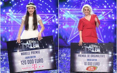 Laura Bretan este castigatoarea sezonului sase  Romanii au talent ! Premiul de originalitate a fost castigat de Anisia Gafton!