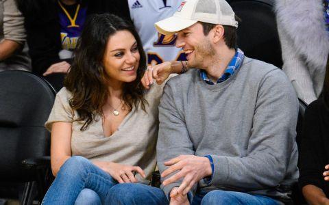 Ipostazele simpatice in care Mila Kunis si Ashton Kutcher au fost surprinsi alaturi de fetita lor. Cat de simpatica e micuta Wyatt