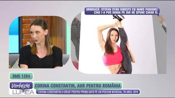 Corina Constantin, aur pentru Romania