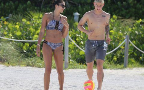 James Rodriguez si Daniela Espina, spectacol pe plajele din Miami. Cat de frumoasa e sotia fotbalistului