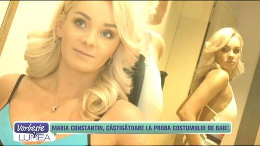 Maria Constantin, castigatoare la proba costumului de baie