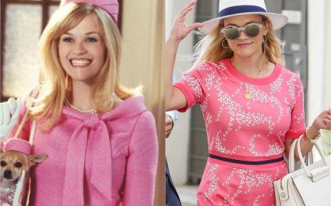 Blonda de la Drept, 15 ani mai tarziu: Reese Witherspoon surprinsa intr-o tinuta care ne duce cu gandul la simpatica Elle Woods