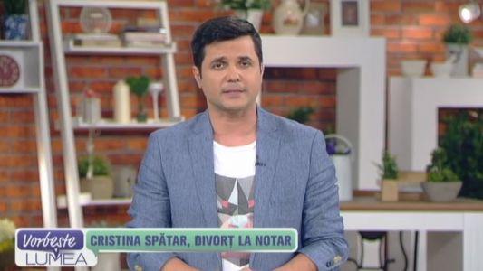 Cristina Spatar, divort la notar