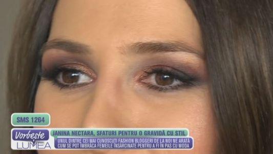 Janina Nectara, sfaturi pentru o gravida cu stil