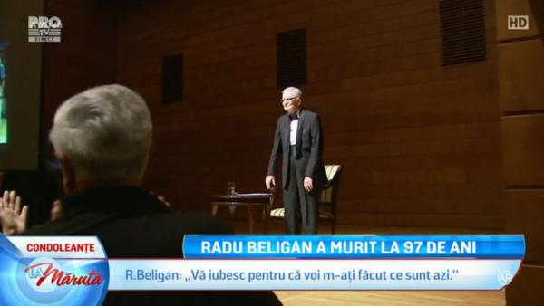 Radu Beligan a murit la 97 de ani