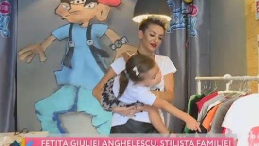 Fetita Giuliei Anghelescu, stilista familiei