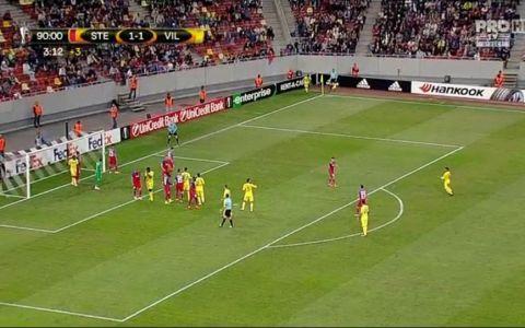 Steaua - Villarreal 1 - 1. Stelistii obtin primul punct in grupele Europa League VIDEO