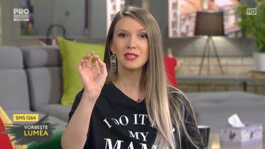 Adela Popescu, aparitie chic la Vorbeste lumea