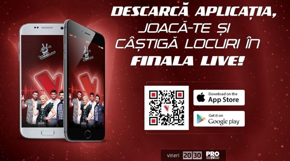 Aplicatia Vocea Romaniei iti ofera experienta totala a show-ului in care doar vocea conteaza!