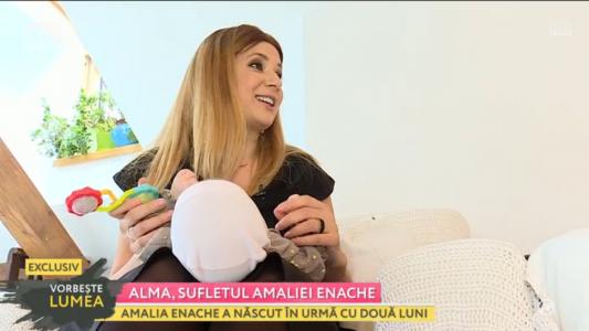 Amalia Enache, prima aparitie publica dupa ce a nascut