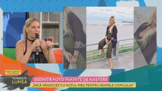 Andreea Banica, sedinta foto inainte de nastere