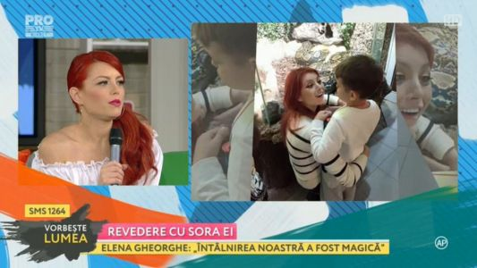 Elena Gheorghe, revedere cu sora ei