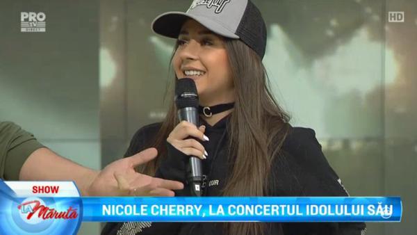Nicole Cherry, la concertul idolului sau